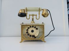 Onyx 18 k gold-plated Telcer telephone - Italy 1960/1970