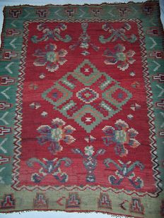 Bessarabian antique Kilim carpet – Turkey – 19th century