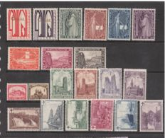 Belgium 1928/1932 - selection of six series, between  OBP 258 and 362.
