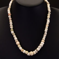 Necklace with ancient stone and shell beads - 50 cm