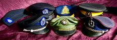 Lot of képis from the Canadian Police and Gendarmerie  - German - Belgian - 1950-1960
