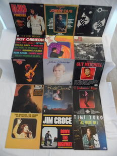 30 Nice Albums with Great World-Stars Forever - 32 Records - In Rock 'n Roll - Country-Rock & Country - Elvis Presley - Johnny Cash - Roy Orbison ( 2 ) - Jerry