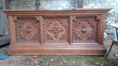 Neo classic altar of a church in oak - early 20th
