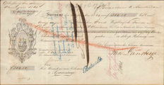 Slavery; Bill of exchange 'Abolition of slavery', from Suriname - 1864