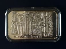 U.S.A -  St. Francis Chapel Mission Inn - 1 Troy oz .999 silver art bar - 1984