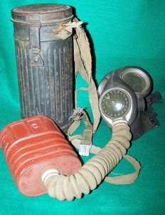 Original WW2 German & a WW2 British, Military gas Masks