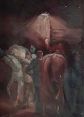 Attributed to Heyting posthumous (1918-1991) - behind the curtain