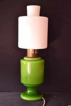 Opaline Glass Table Lamp - France - 1950s