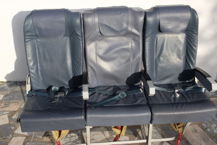 Economy Class Triple Chair of an A319 Aeroplane from Tap