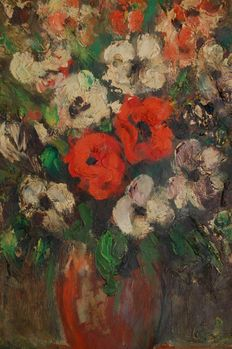 Pierre Mandonnet 1891/1970, still life with flowers