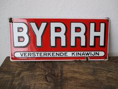 Enamel advertising sign BYRRH Kina wine - 1932