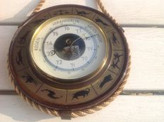 Ship's Barometer in brass case-2nd half of 20th century