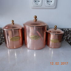 Set Brass French inventory buses (3 pieces)