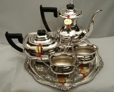 Viners of Sheffiled, 1925, Silver plated 5 pcs Teaset, Made in Sheffield, England