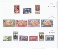 Italy 1922/1933 - Composition of stamps, 11 complete series, including Airmail