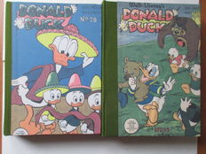 Donald Duck Weekblad - 104 issues in 4 Private bindings - 2 complete years - hc - 1st edition (1955/1958)