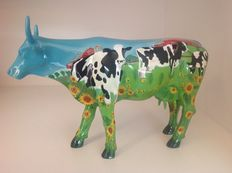 Cow Parade-Cowparade-Cow Barn-Resin-LARGE-RETIRED