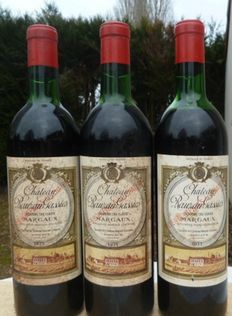 1971 Chateau Rauzan Gassies, Margaux Grand Cru Classé - 3 bottles