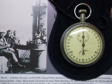 Junghans stopwatch, torpedo running time measurement of the 2 world war