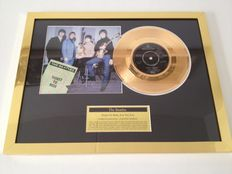 "The Beatles  Gold Plated Original 7"" Record  ""Ticket To Ride""  Displayed In Mint Condition !!"