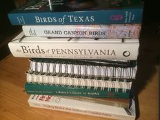 Lot with 11 titles on finding birds in the US - 1973/2000