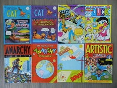 Underground Comics - o.a. Fat Freddy's Cat, After Shock, Anarchy Comics, Big Ass Comics, Bijou Funnies - 37x sc - (1968 / 2004)