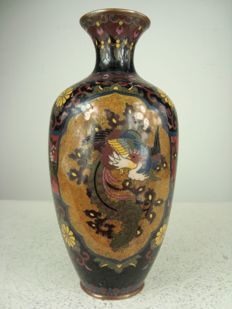 Cloisonné baluster vase - Japan - Approx. 1900