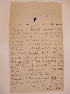 Manuscripts; Thomas Moore (28 May 1779 – 25 February 1852) - Handwritten letter - 1827