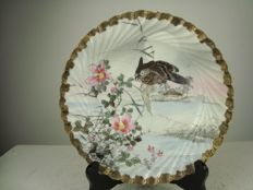 Kutani porcelain plate - Japan - first half of the 20th century