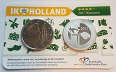 The Netherlands, Holland coin card, 2017, with silver coin
