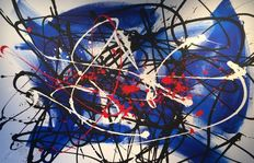 Rick Triest - The contemporary movement compositions - blue marks - black and blue loves my white and red