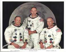 Original crew lithograph Apollo 11