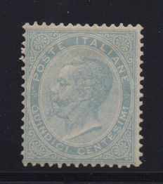 Kingdom of Italy, 1863, 15 cents, light sky blue, minted in London, Sassone L18.