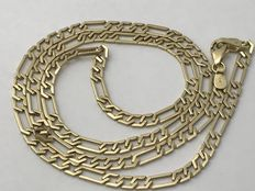 Gold curb chain, 14 kt necklace. Length: 55 cm