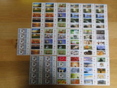 "Belgium – selection of ""Duo-stamps""."