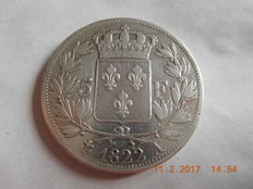 France – 5 Francs 'Louis XVIII' 1822-A Paris – Silver