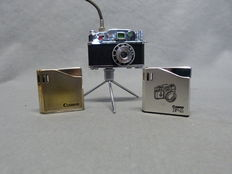 Piezo-Electric Lighter, gas lighters 3 x: two of these with the Canon Logo