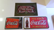 3 Coca Cola Reclameborden, Limited Edition