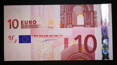 European Union, Germany – €10 note, 2002 Duisenberg – intentional cutting error