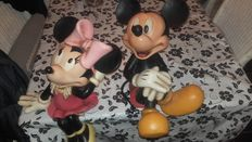 Disney, Walt - 2 Beelden - Mickey Mouse +  Minnie Mouse (ca. 1970)