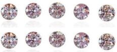 20 pink diamonds – 0.20 ct in total
