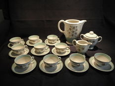 Royale K and B - Coffee set in porcelain 19 earthenware pieces