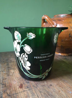 Glass Painted Champagne Perrier-Jouet