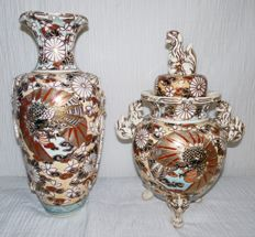 Two Satsuma Vases - Japan - Approx. 1930