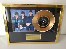 """The Beatles  Gold Plated Original 7"""" Record  """"A Hard Days Night""""  Displayed In Mint Condition !!  -  Ideal X - Mas Gift !!"""