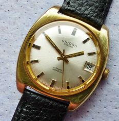 ORIOSA SWISS 17Jewels with date - men's wristwatch from the 60s - 70s