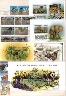 Lot of stamps in complete series and sheets: Theme: AFRICAN ANIMALS
