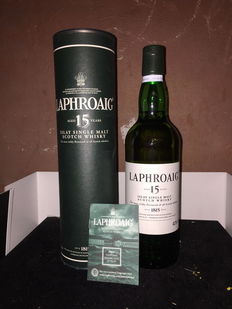 1 Bottle Laphroaig 15 Years aged  43° 70 cl
