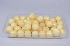 Amber Beads, balls - butterscotch-honey color - 101 gram  for bracelets, necklaces