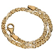 Yellow gold Figarucci link bracelet of 14 kt – 19 cm